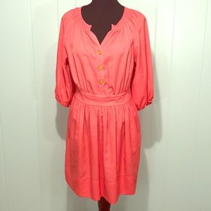 Coral dress by Eliza J with Long Sleeves! 10p